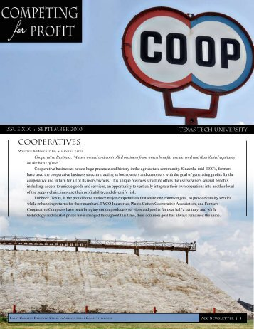 Cooperatives - Texas Tech University