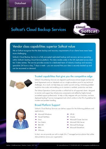 Cloud Backup Services overview.indd - Softcat