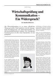 Wirtschaftsprüfung und Kommunikation – Ein Widerspruch? - Schweiz