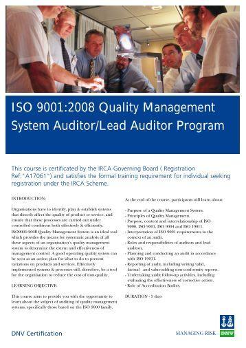 Lead auditor manual