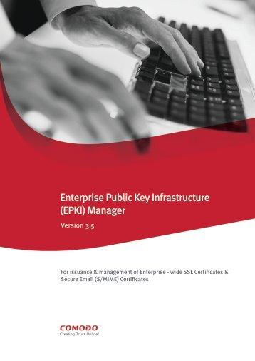 Enterprise Public Key Infrastructure (EPKI) Manager - SSL Certificate