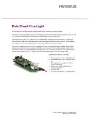 Data Sheet FiberLight - Heraeus Noblelight