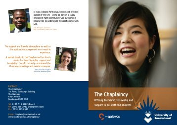 The Chaplaincy - Student and Learning Support