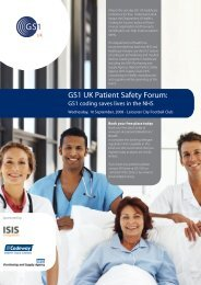 GS1 UK Patient Safety Forum: barcodes in the NHS - Isis Integration