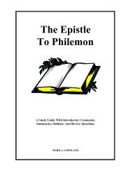 The Epistle To Philemon - Executable Outlines