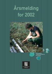 Årsmelding for 2002 - Arkeologisk museum