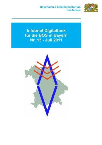 Infobrief Digitalfunk für die BOS in Bayern Nr. 13 - Juli 2011
