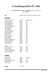 GR-Sitzung 359/2006 (23 KB) - .PDF - St. Johann am Walde