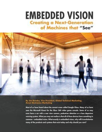 EMBEDDED VISION - Avnet Electronics Marketing