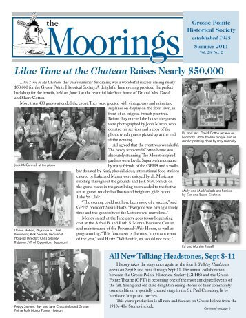 2011 Summer - Volume 28 No.2 - Grosse Pointe Historical Society