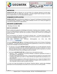 Sicura Plast LM - La société « UNIVERS DISTRIBUTION » est une ...