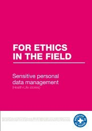 For Ethics in thE FiEld - Médecins du Monde