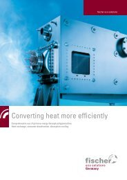 Converting heat more efficiently - Fischer Group