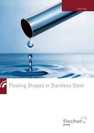 Flowing Shapes in Stainless Steel - fischer group