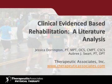 Download Presentation - Therapeutic Associates
