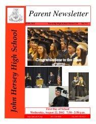 June 2012 - John Hersey High School - High School District 214