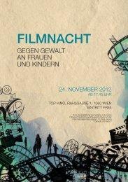Flyer Filmnacht - Verein Autonome Österreichische Frauenhäuser.