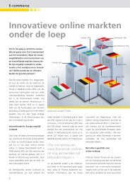 E- COMMERCE, INNOVATIVE ONLINE MARKTEN ONDER DE LOEP