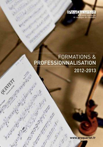 FORMATIONS & PROFESSIONNALISATION