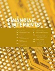 FINANCIAL STATEMENTS - Unisem