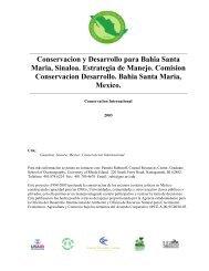 Conservacion y Desarrollo para Bahia Santa Maria, Sinaloa ...