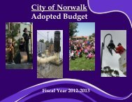 2012-2013 Adopted Budget - City of Norwalk