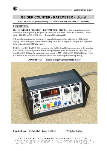 1 GEIGER COUNTER / RATEMETER - digital