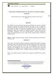 O Mercado De Trabalho Informal Como Alternativa Na Cidade De ...