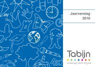 Jaarverslag 2010 - Stichting Tabijn