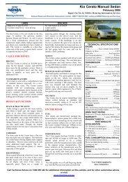 Kia Cerato Manual Sedan