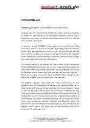 Pressemitteilung_20110404_Ferbedo Sondermodell - Gokart-Profi