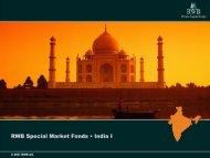 RWB Special Market Fonds • India I