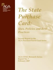 The State Purchase Card: Uses, Policies and Best Practices - AGA
