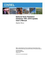National Solar Radiation Database 1991–2010 Update: User's Manual