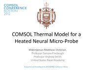 COMSOL Thermal Model for a Heated Neural Micro ... - COMSOL.com