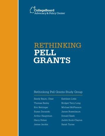 Rethinking Pell Grants - Inside Higher Ed