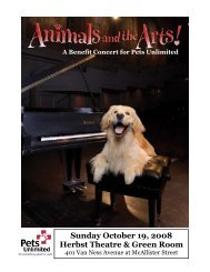 A Benefit Concert for Pets Unlimited Sunday October 19, 2008 ...