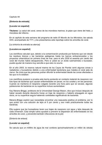 Locutor en español - Sociedad Española de Microbiología