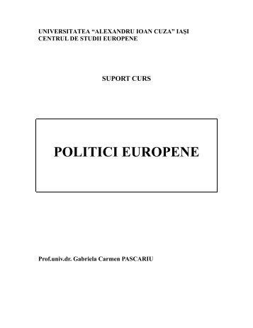 POLITICI EUROPENE - Centrul de Studii Europene - Universitatea ...