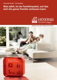 Broschüre als Download - Generali Privat