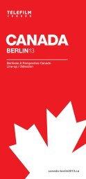 Téléchargez la brochure - Telefilm Canada