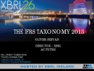 IFRS2. The IFRS Taxonomy 2013, Olivier Servais, IASB