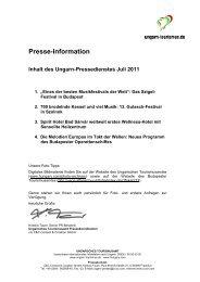 Ungarn Pressedienst Juli 2011