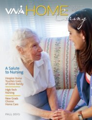 Fall 2010 - the Visiting Nurse Association of Northern New Jersey