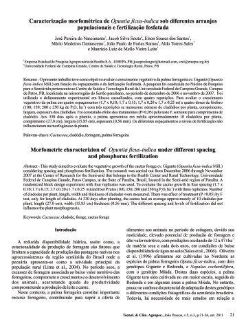 Caracterização morfométrica de Opuntia ficus-indica sob ... - Emepa