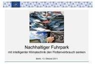Nachhaltiger Fuhrpark - Pro Klima