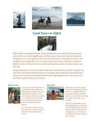 Land Tours at AQUA - Aqua Nicaragua