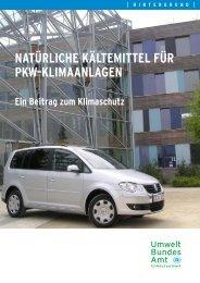 Natürliche Kältemittel für Pkw-Klimaanlagen - Pro Klima