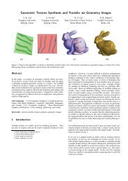 Geometric Texture Synthesis and Transfer via Geometry Images