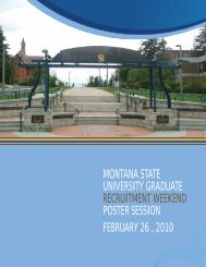 Read poster abstracts - Center for Biofilm Engineering - Montana ...